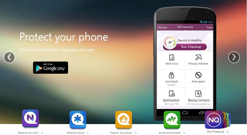 NQ Mobile Security افضل 5 تطبيقات للحمايه/الاخطار عند ضياع هاتفك او سرقته .