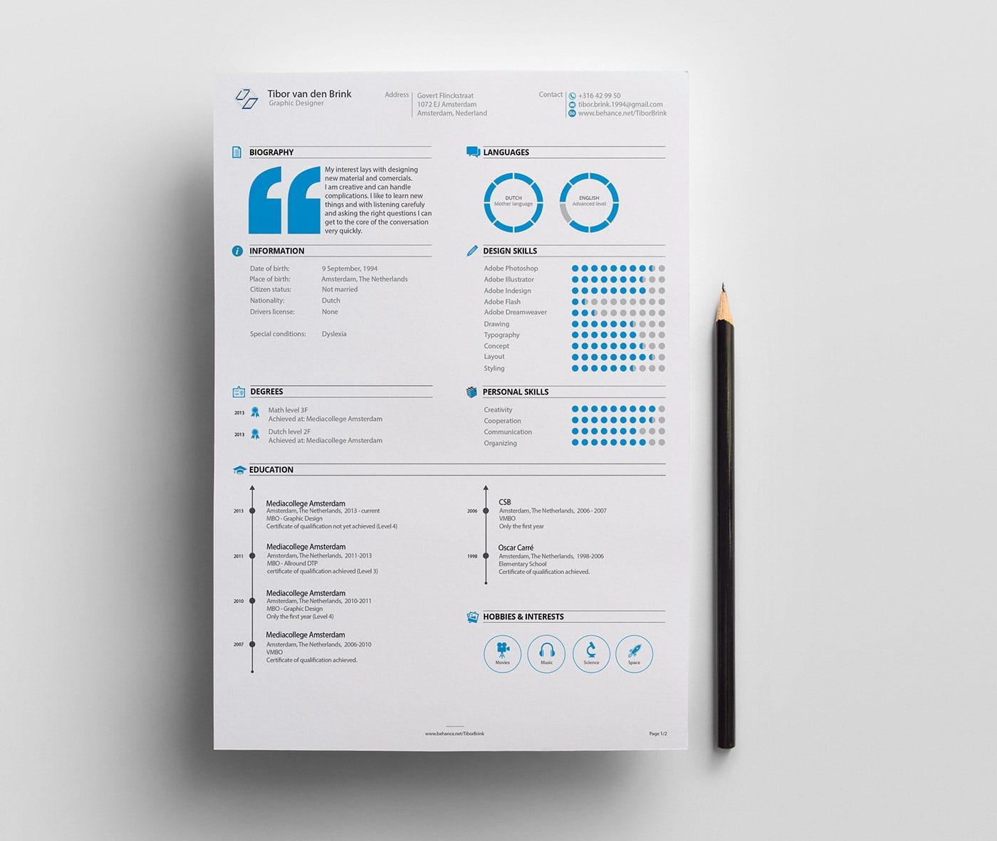 Graphic Design Resume Examples u2013 httpwwwresumecareer u2026