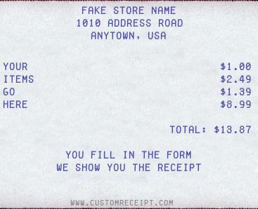 Custom Receipt Maker - Free Invoice Maker
