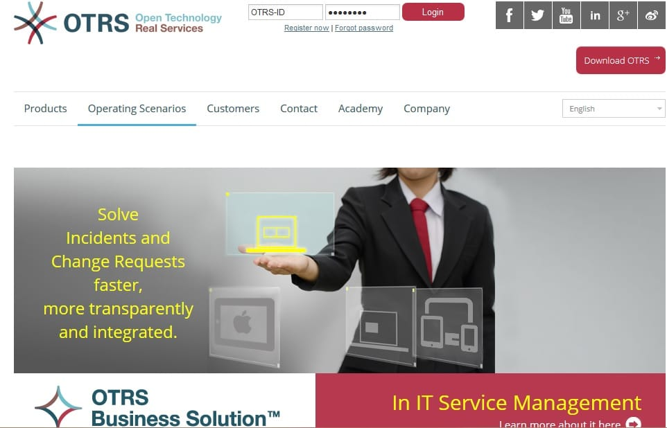OTRS - Open Technolgy Real Services for Powerful Ticket Support IT Solutions