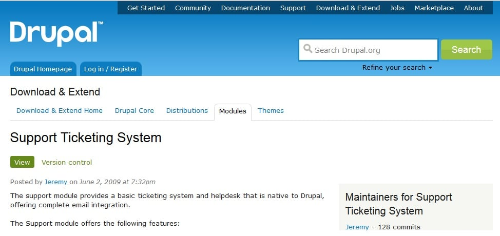 Support Ticketing System - Best Ticket System for Drupal CMS