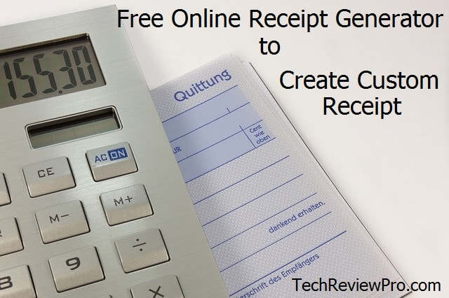 Top Free Online Receipt Generators and Invoice Makers to Create Custom Receipt