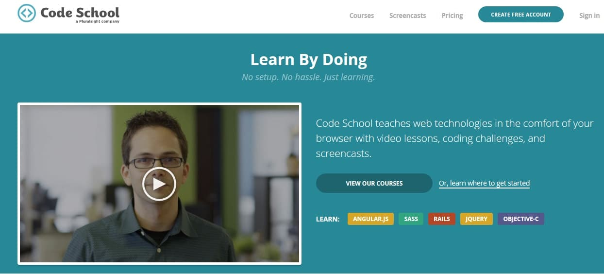 Code School - Learn Coding by Doing