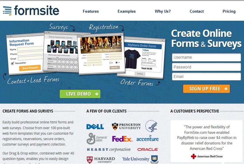 FormSite - Online Form Builder - Create HTML Form Online and Surveys