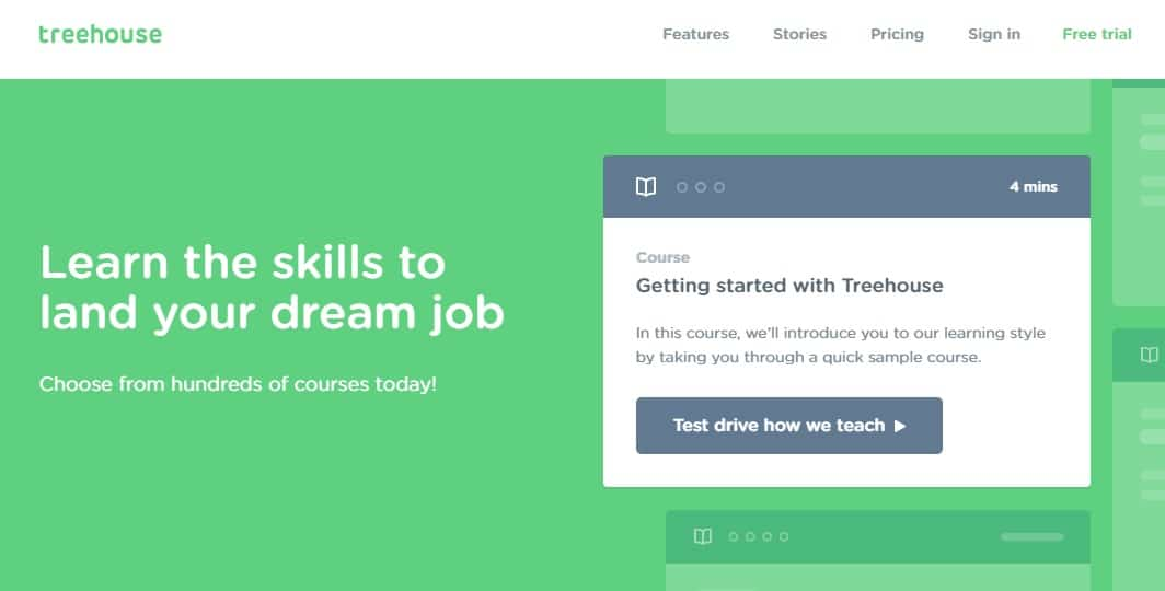Treehouse - Learn Web Design-Web Development and How to Code Android-iOS Apps