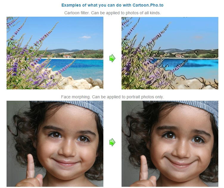 Cartoon.pho.to - Create Cartoon of any Photo and Catoonize Your Face