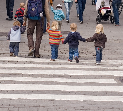 Amazing Kids Photography - Kids Crossing Zebra Crossing - Kids Pictures