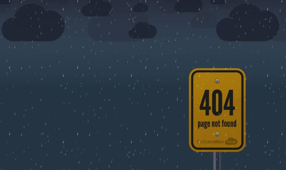 Creative 404 Not Found Error Design