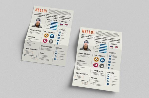 Curiculum Vitae Resume Infographic Design