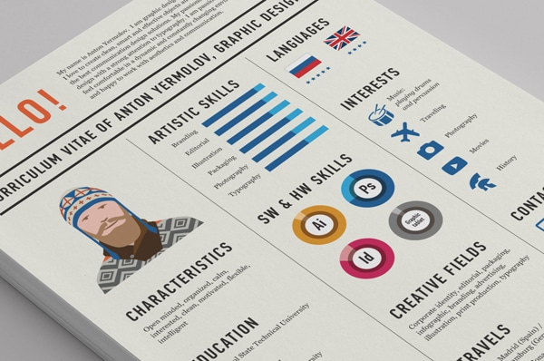 Graphic Design Resume Curriculum Vitae CV