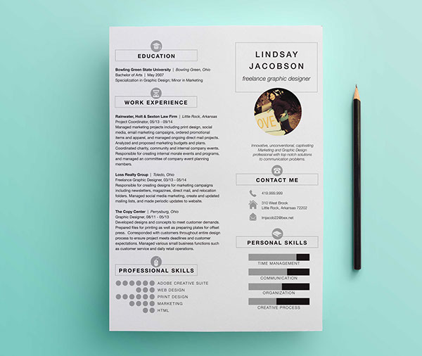 graphic designer resume template ideas