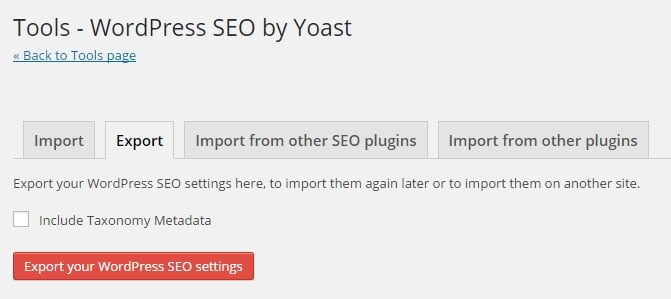 How to Export WordPress SEO by Yoast Setting to Use on Other Sites