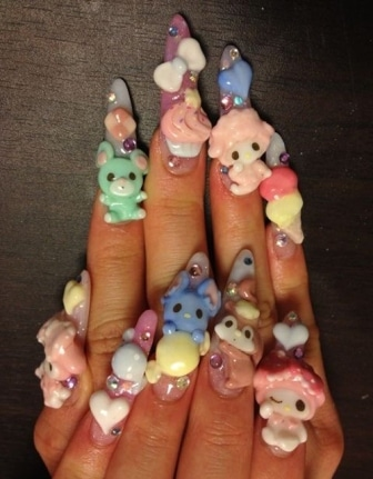 Kawaii-nails-art-designs-paint