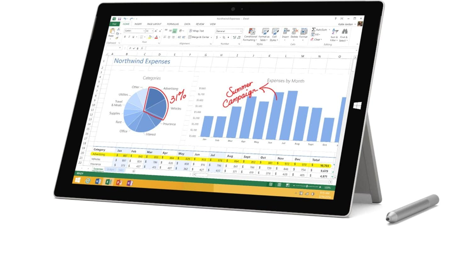 Microsoft Surface Pro 3 - Best Laptop for College Students 2015 with Microsoft Office