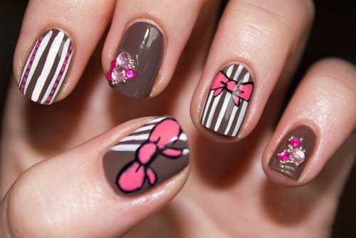 Multi-Color-Nail-Art-Design-Ideas-Short-Nails