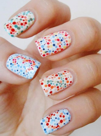 Multi-coloured-candy-splatter-nails-designs