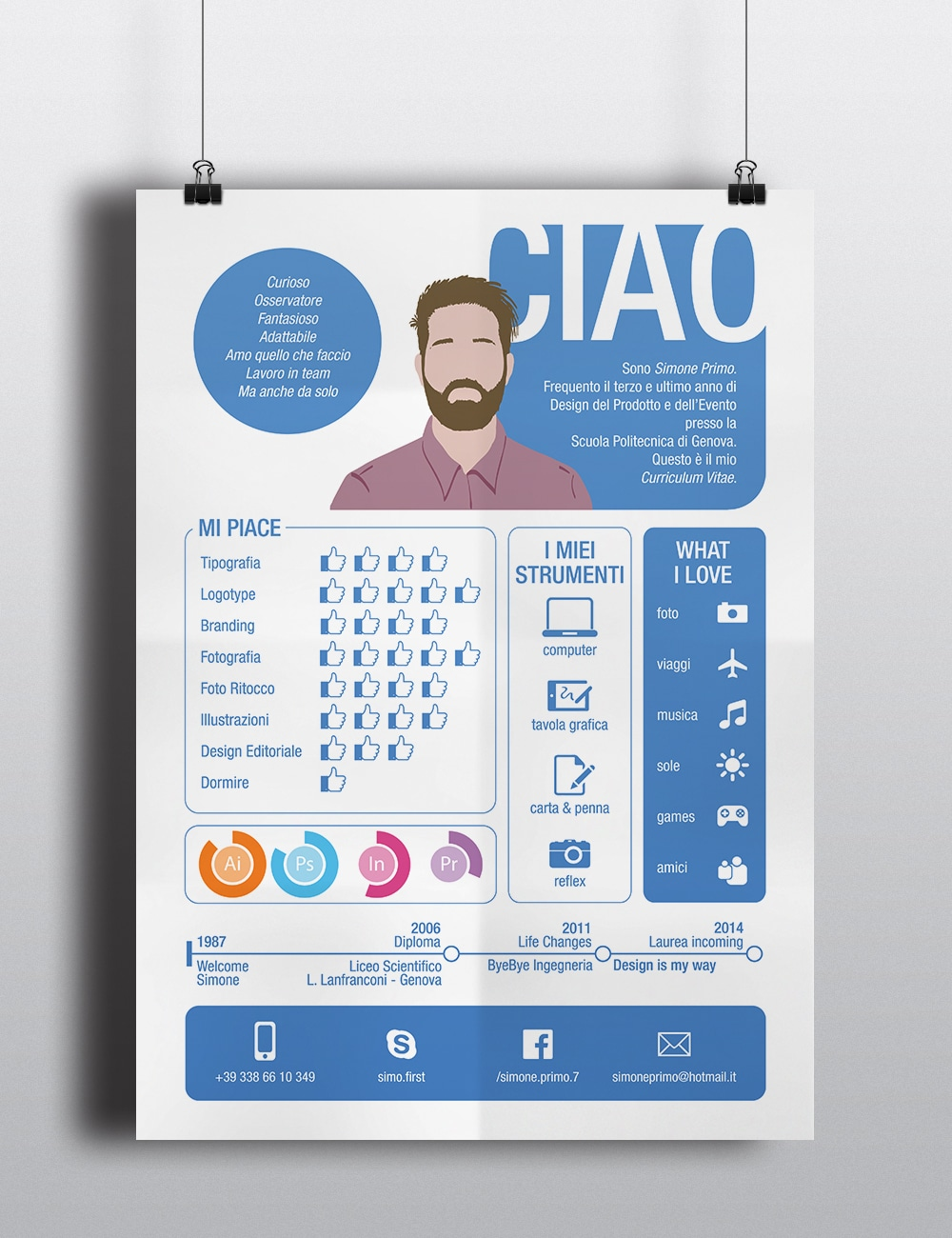 My Curriculum Vitae Skills Resume Template Design