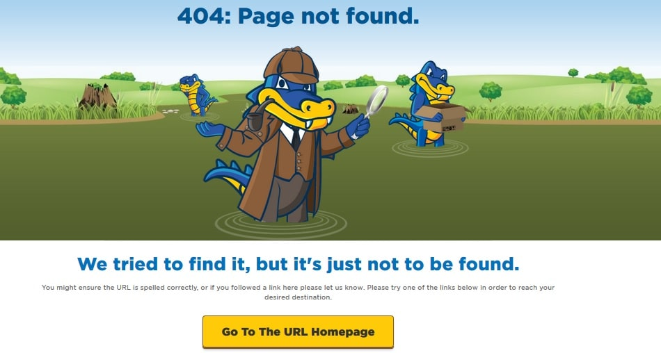 Nice 404 Not Found Error Page Design
