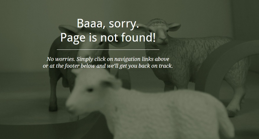 Page is Not Found - Creative 404 Error Page
