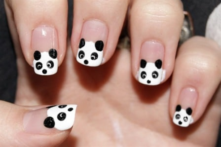 Panda-nails-designs-art-ideas