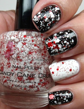 Simple-splatter-nails-with-KB-Shimmer-Candy-Cane-Crush-Nail-Polish