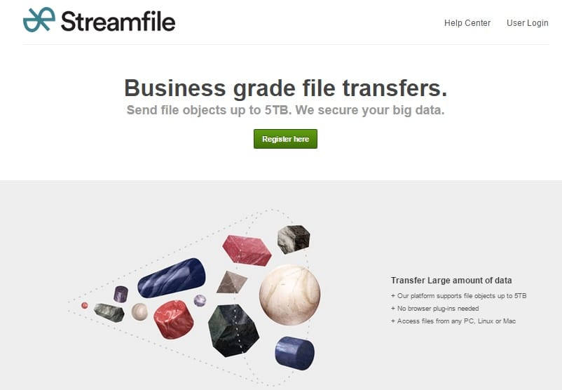 StreamFile - Secure Business Files Transfer