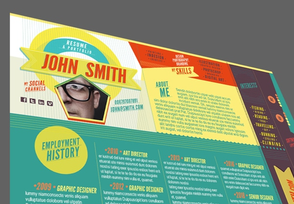 The One Page Resume - Graphic Design Template