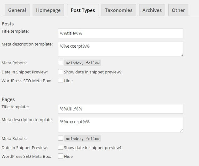 WordPress SEO - Post Types Settings for Best SEO Results