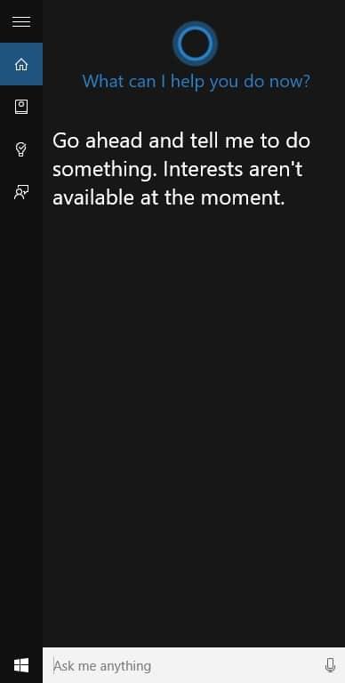 Cortona Not Working on Windows 10 Error Fixed