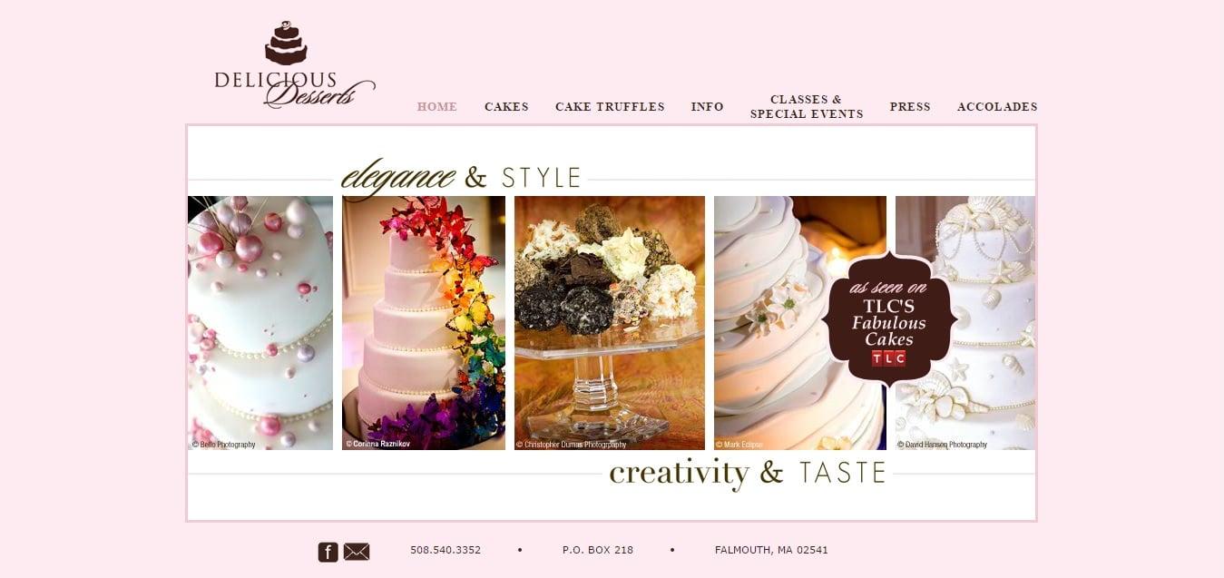 bakery website design