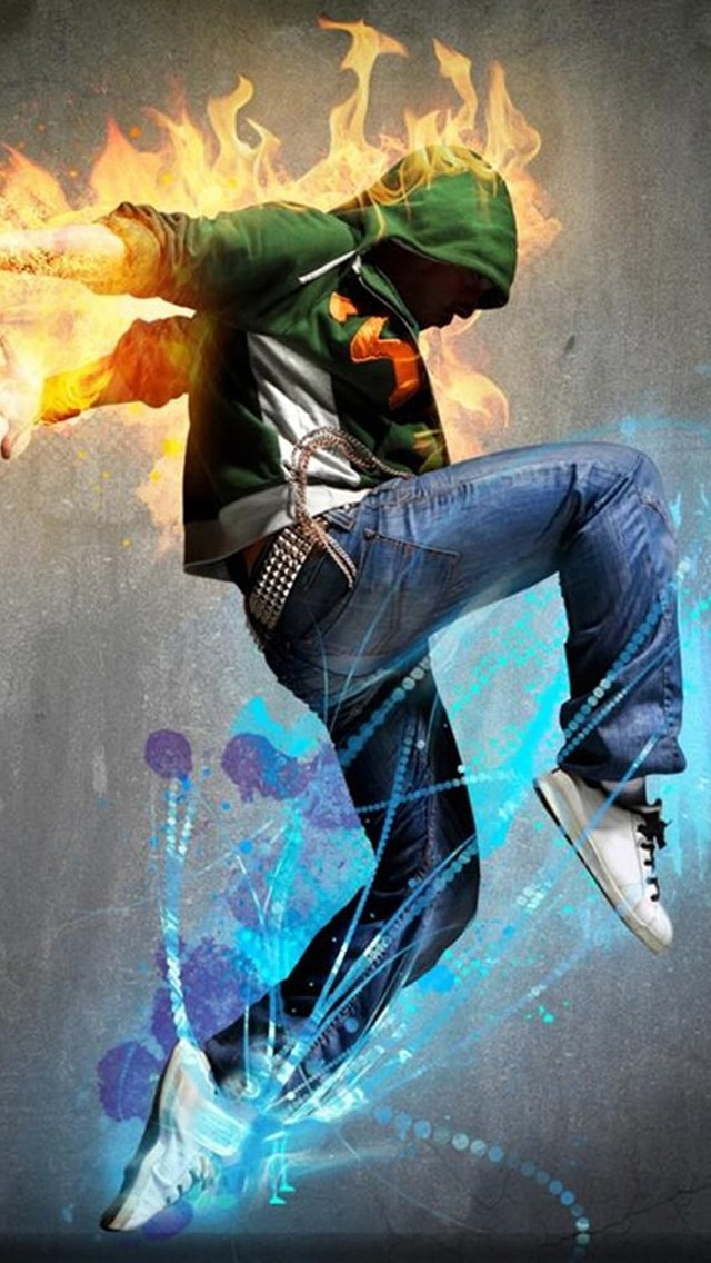 Hip-Hop Wallpaper, Fire B ackground