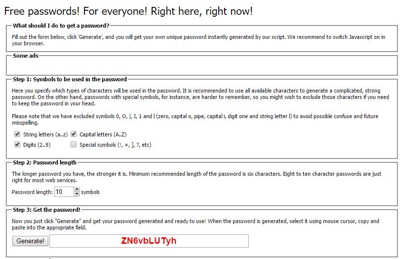 Free Password Generator - Generate Free Online Passwords Randomly
