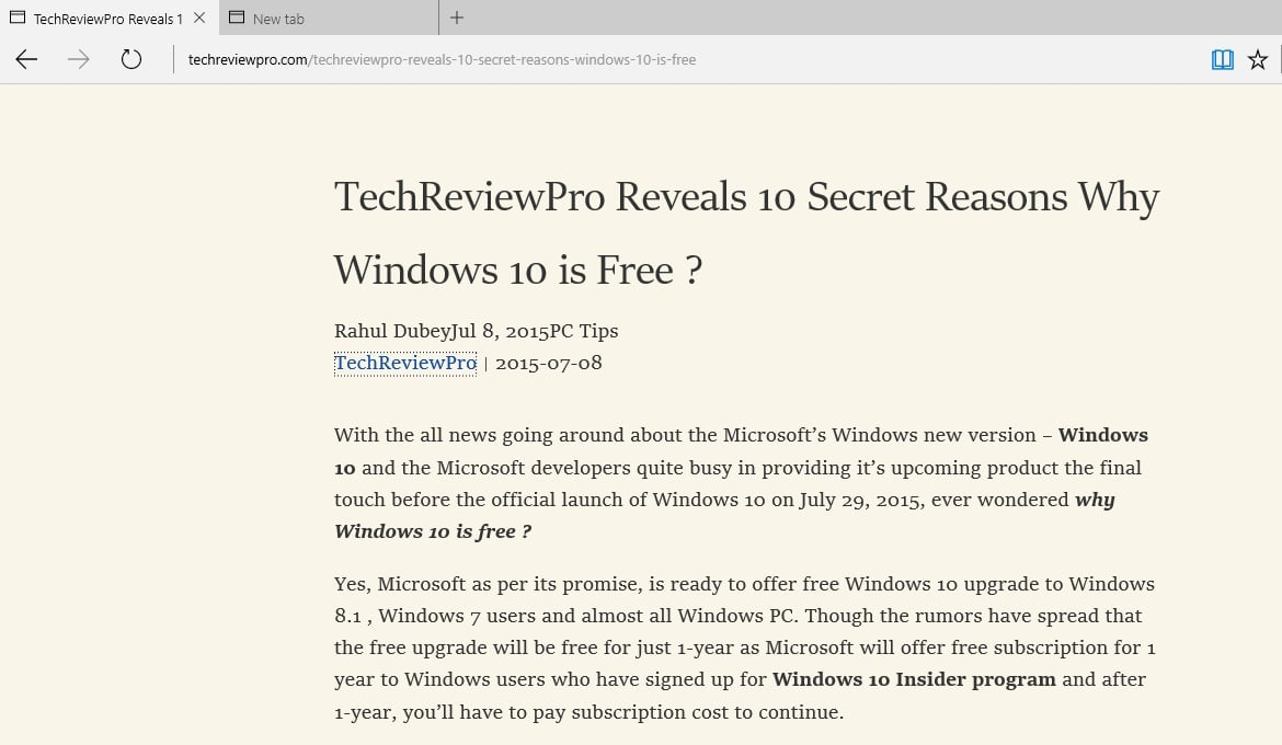 How to Activate Reading View in Microsoft Edge - Windows 10 Tips and Tricks