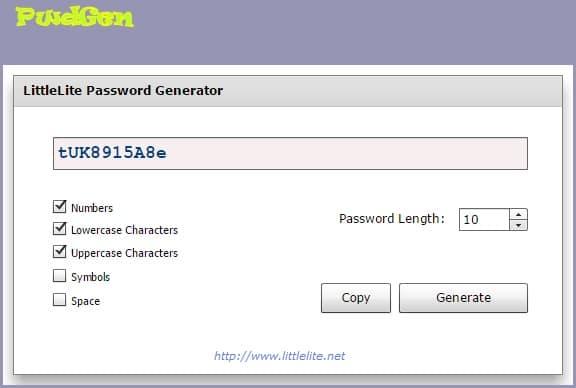 LittleLite Random Password Generator - Secure Password Generator Tool