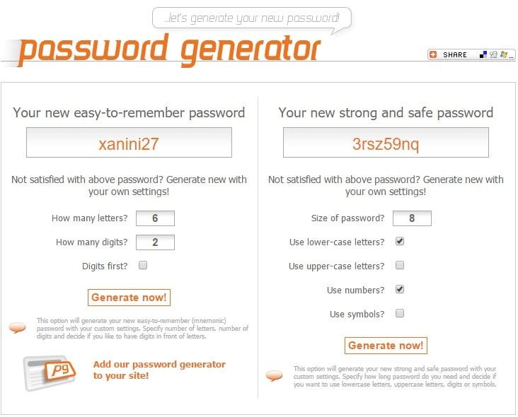 New Password Generator - Free Online Tool to Generate New Safe Passwords