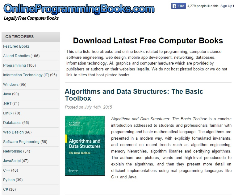 Online Programming Books - Best eBook Download Sites to Download IT Books for Free