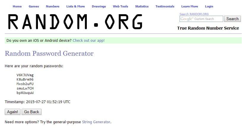 Random.org - Random Password Generator