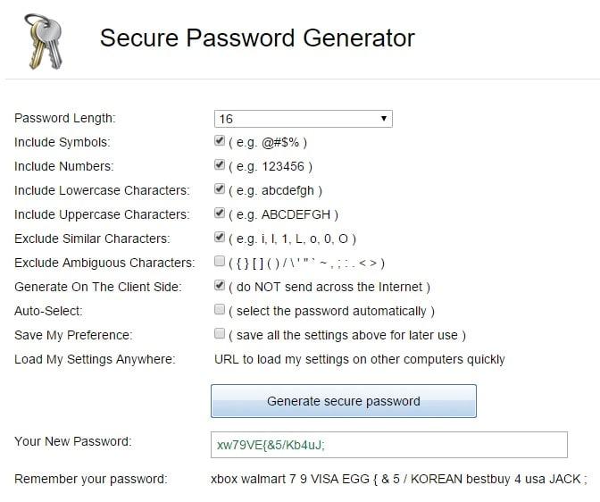 Secure Password Generator - Strong Random Password Generator