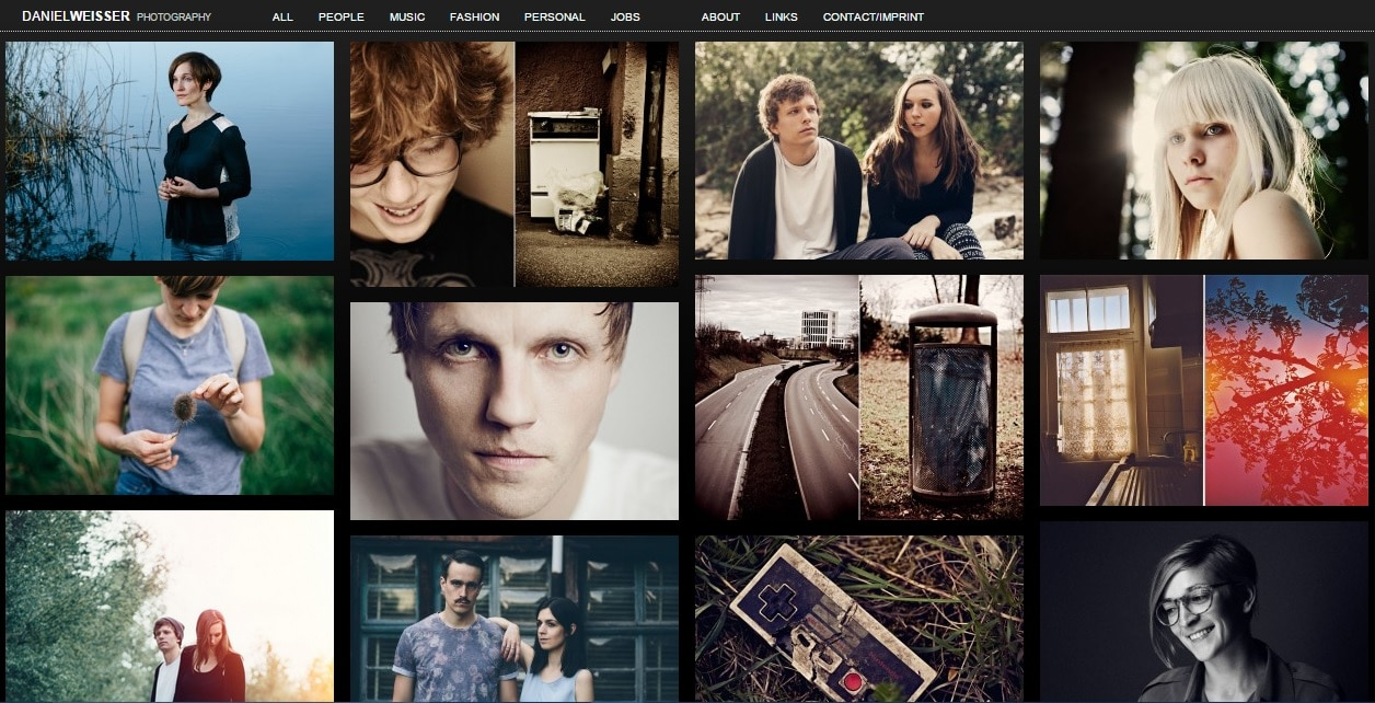 Daniel Weisser Photography Portfolio Website Design Ideas