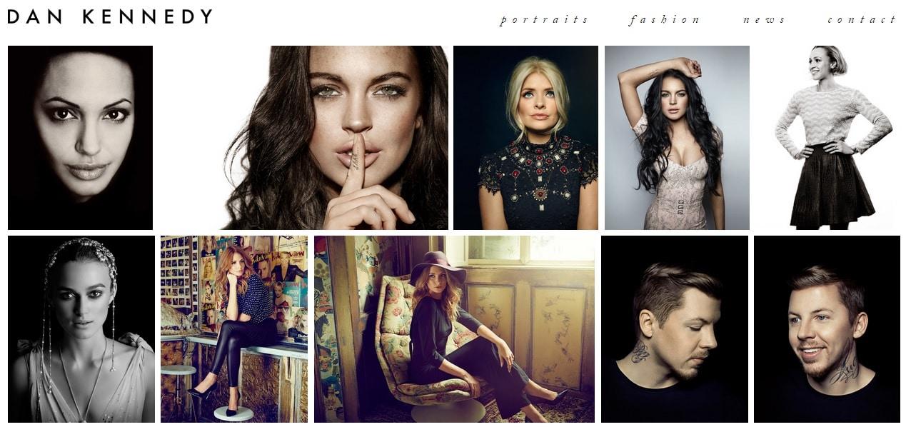 Dann Keneddy Photography Portfolio Website Design