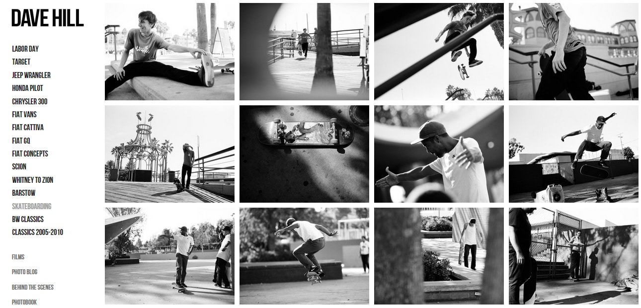 Dave Hill Photography Website Design Portfolio