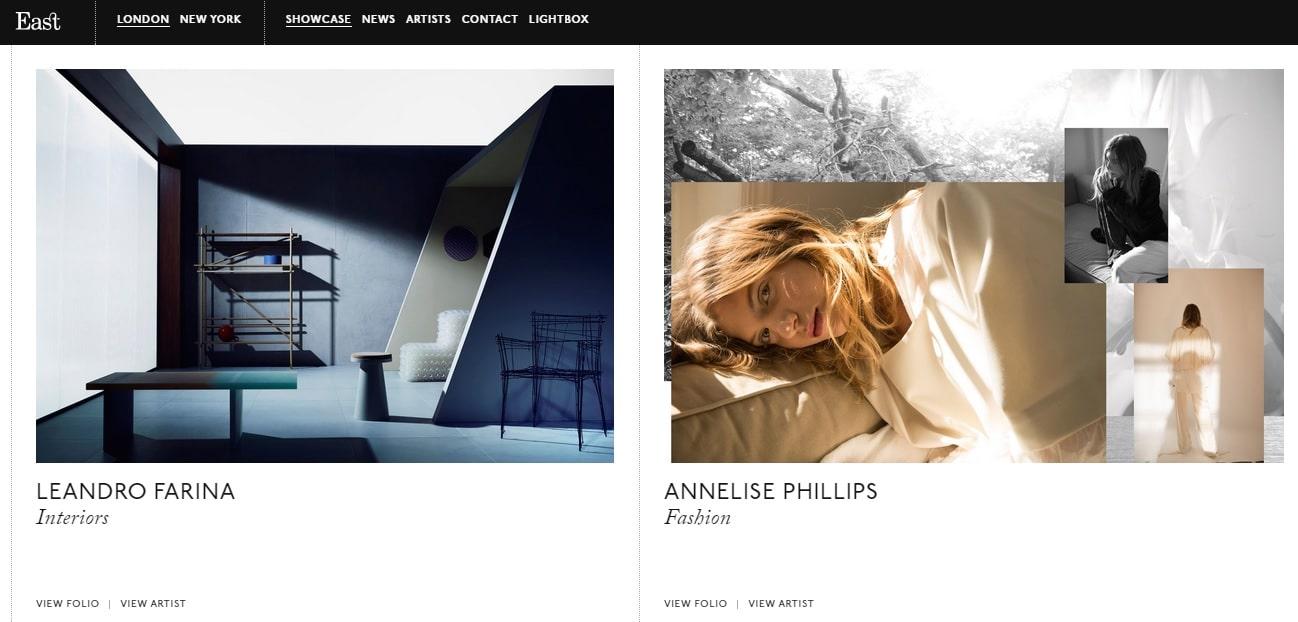 East Photography Portfolio Showcase Website