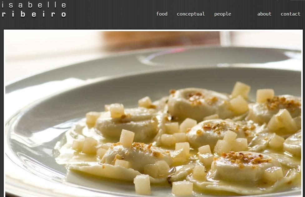 Food Photograher Website Portfolio Design Idea for Inspiration