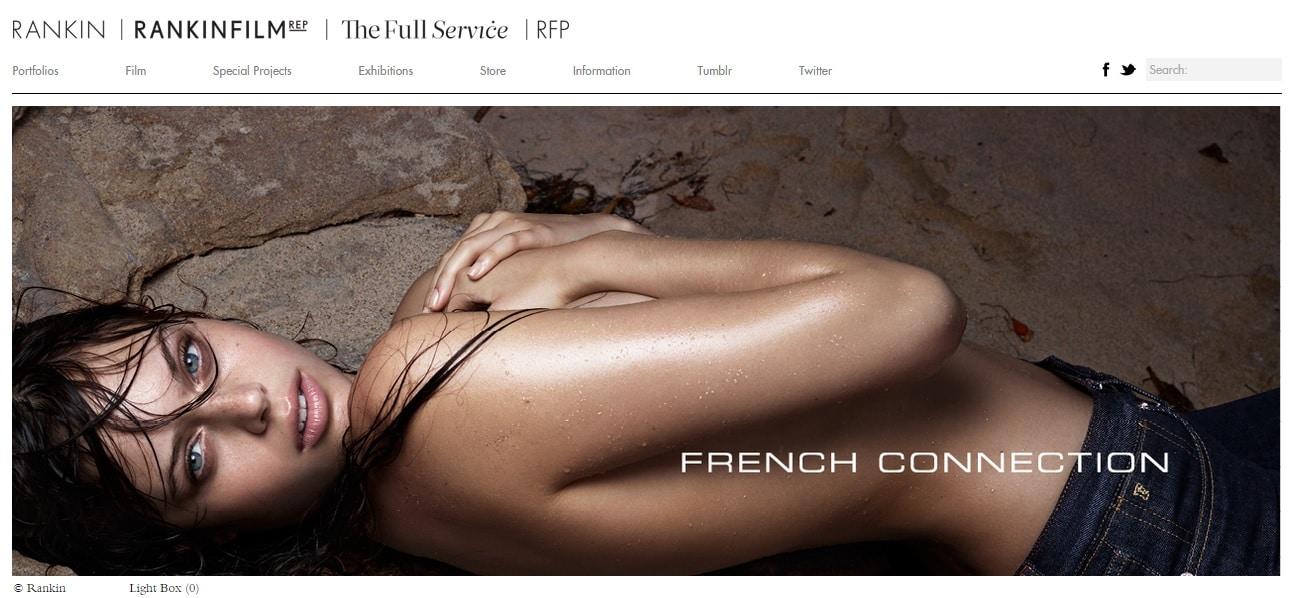 Rankin Photographer Website Portfolio Design Ideas
