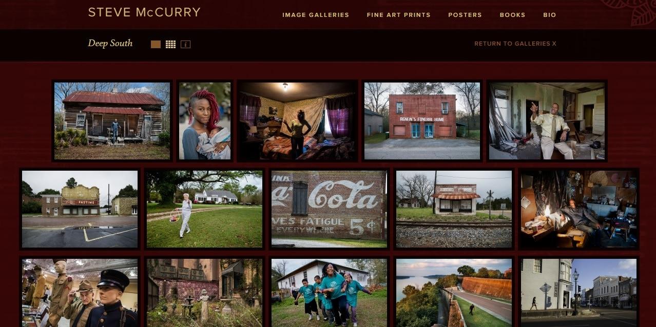 Steve McCurry Photography Website Portfolio Design Ideas