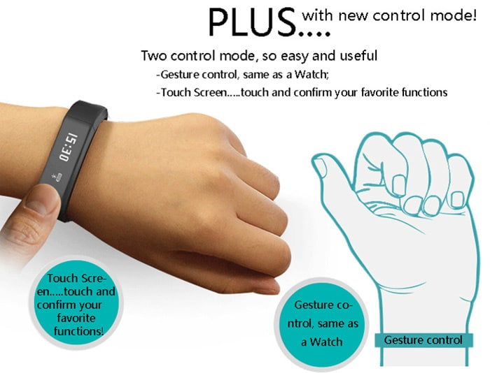 I5 Plus Smart Bluetooth 4.0 Watch touch And Gestures Control