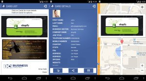 Business card info -BCi- best free business card scanner for android with an interactive map