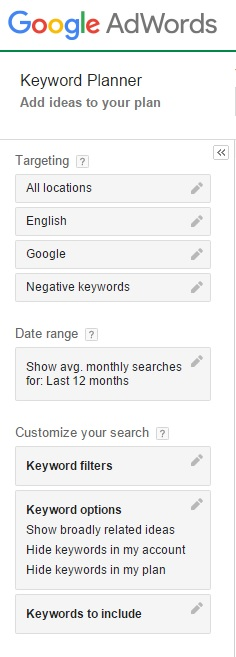 Filtering Profitable Keywords Using Google Keyword Planner Tool