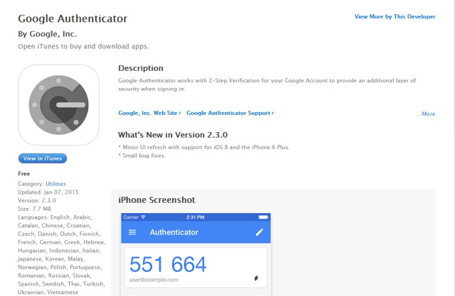 Google Authenticator: Authenticate Google account on iPhone - Best iPhone Security Apps for Authenticating Password
