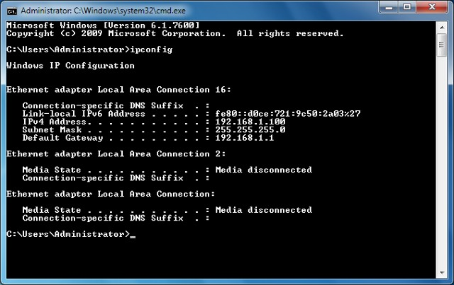 awesome command prompt hack to access network information in Windows